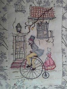 AKTIE: Anton Pieck 10 panelen met patronen De Goede Oude Tijd quilt met 7 Derwent potloden