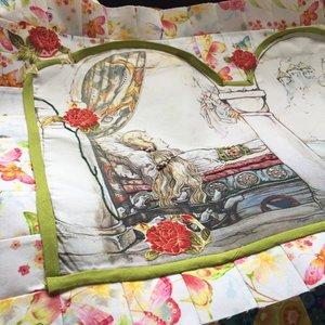 Paneel en stof voor de top voor Anton Pieck, Sleeping beauty