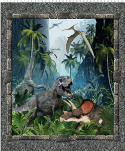 Dinosaur Large Panel - Multi