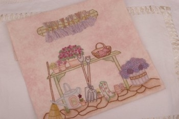 Maand 9 patroon voor English Country Garden Quilt