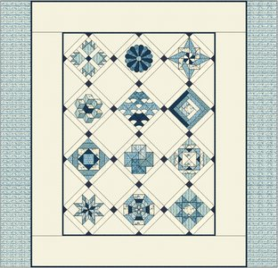 JW Dutch quilt, out of the blue