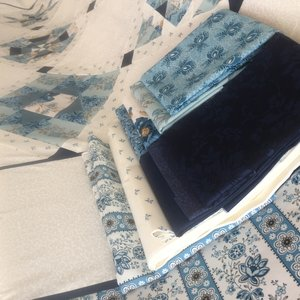 Stof pakket voor JW Dutch quilt, out of the blue