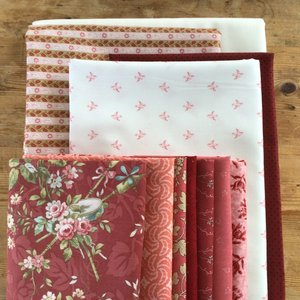 Stof pakket voor JW Dutch quilt, out of the blue | RED version