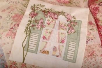 Maand 3 THe Rose Window patroon voor English Country Garden Quilt
