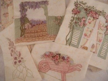 Maand 16 en 17 en 18 patroon voor English Country Garden Quilt
