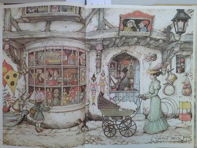 Anton Pieck borduren - De Speelgoedwinkel, maand 10 afmeting 54 x 36 cm