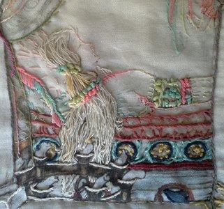 Paneel met rand voor Anton Pieck, de Sprookjes quilt