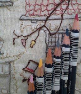 Anton Pieck bee inkleuren en borduren op zat 6 okt