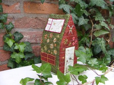 Stof pakket voor 3D Kerst huisje 2013