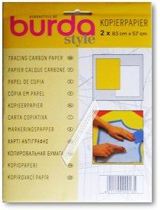 Textiel kopierpapier 1 vel wit en 1 vel geel 83x57 cm.