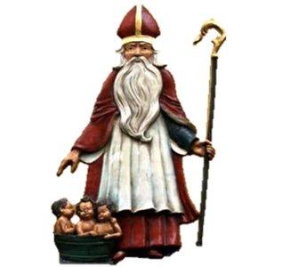 Sint Nicolaas in kruissteekjes
