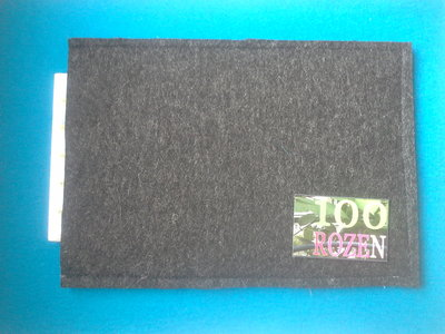 Dark grey Wool Pressing Mat 32x22cm 10mm dik