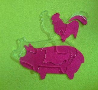 Mal varken voor de quilt This little piggy, van Maggie Bee Quilts