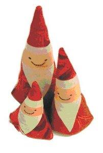 Digitaal patroon kerstmannen Nederlands