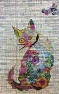 Purrfect Cat Collage Pattern by Laura Heine