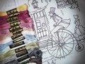 21kleuren DMC garen voor de Anton Pieck, De Goede Oude Tyd quilt