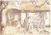 Anton-Pieck-borduren-De-Hoefsmid