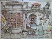 Anton-Pieck-borduren-De-Speelgoedwinkel-maand-10-afmeting-54-x-36-cm